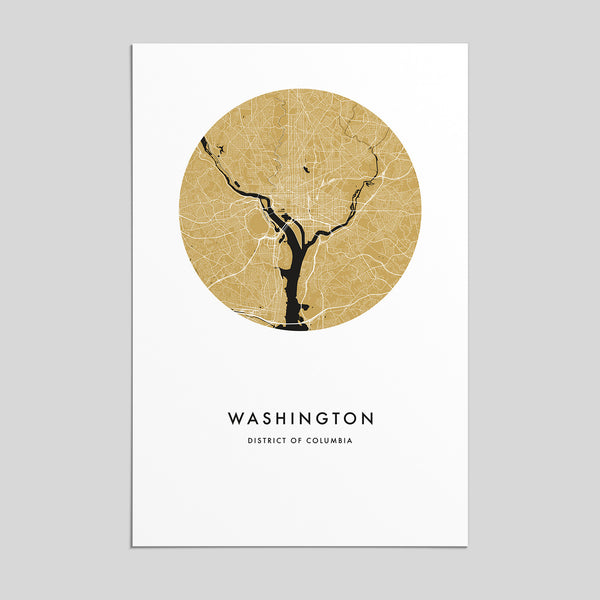 Washington, District of Columbia _ City Map Print