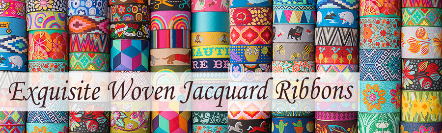 Exquisite Woven Jacquard Ribbon from Renaissance Ribbons