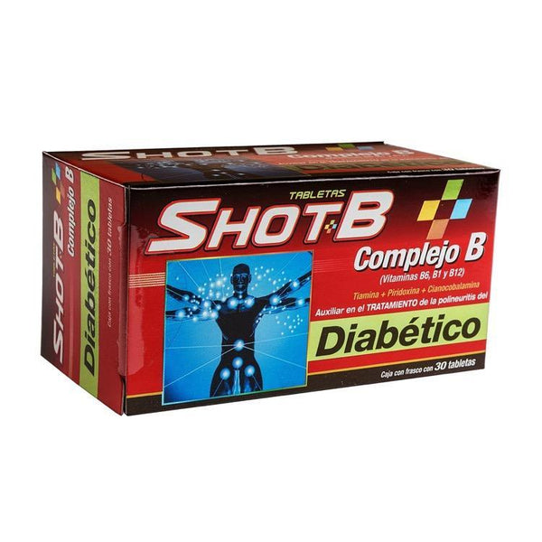 SHOT B DIABETIC 100MG TAB C30