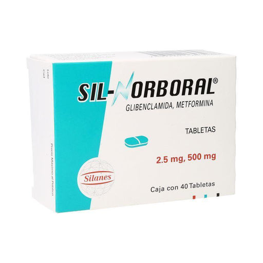 SIL NORBORAL 2 5/500MG TAB C40