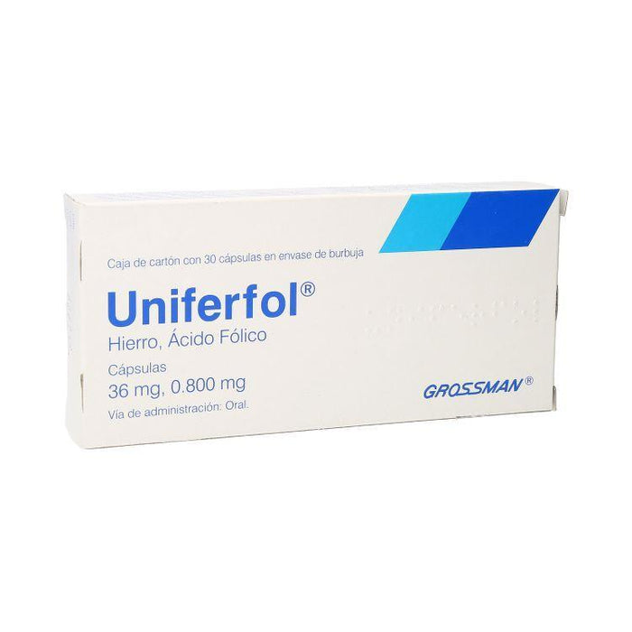 UNIFERFOL 36MG CAP C30