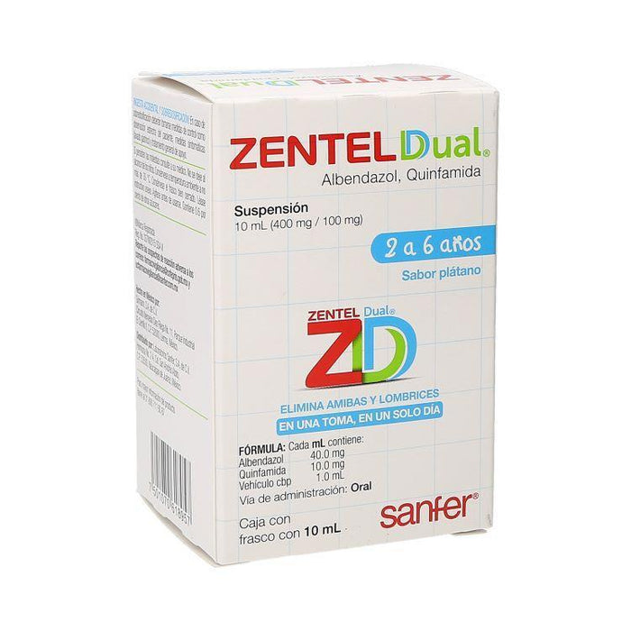 ZENTEL DUAL SUSP 400/100MG 10ML
