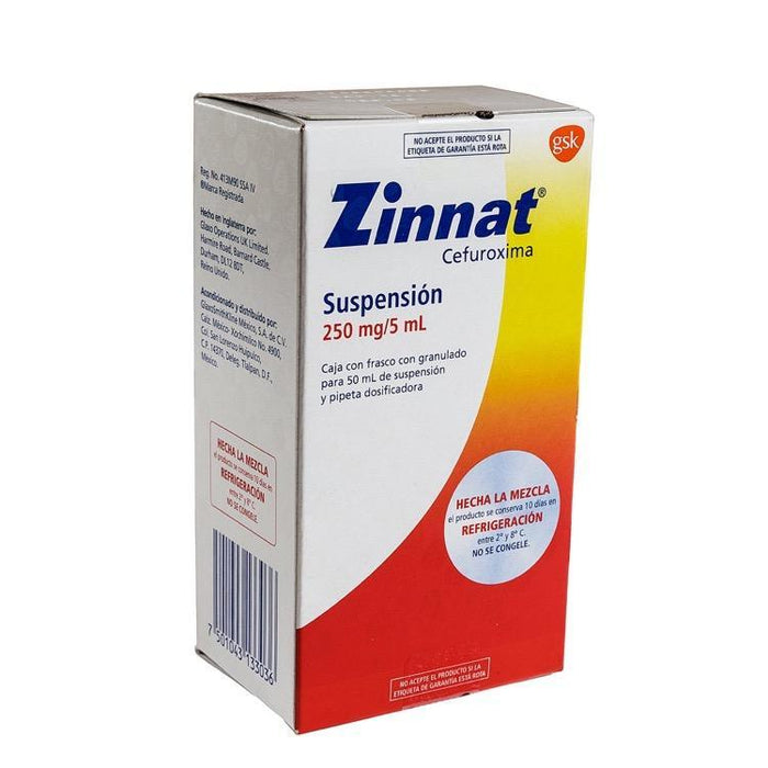 ZINNAT 250MG SUSP 50ML