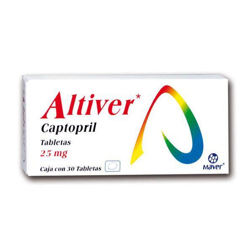 Altiver Tab. 25 Mg. Caja C/30 Captopril