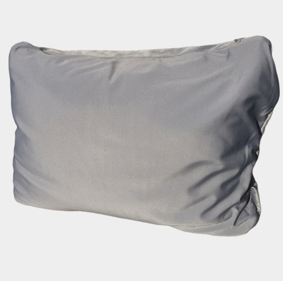 Squishy Deluxe Microbead Rectangular Travel Pillow (GREY) | 12 x 16"