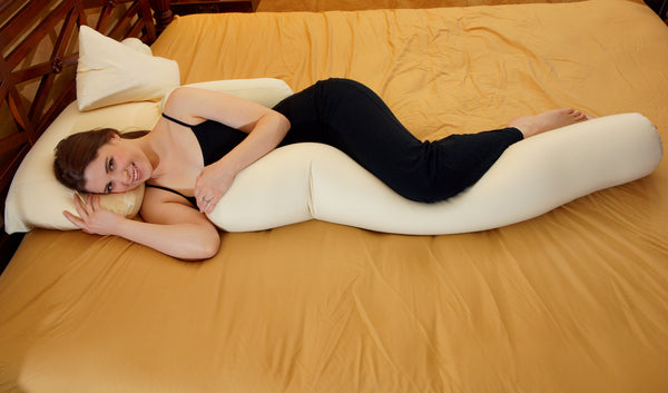 Body Snooz - Microbead Body Pillow w Removable Velour Cover by Snooztime