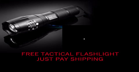 FREE: TACTICAL WATERPROOF FLASHLIGHT 3800 LM