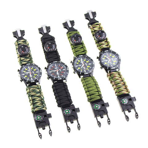 Emergency Survival 6-in-1 Paracord Watch