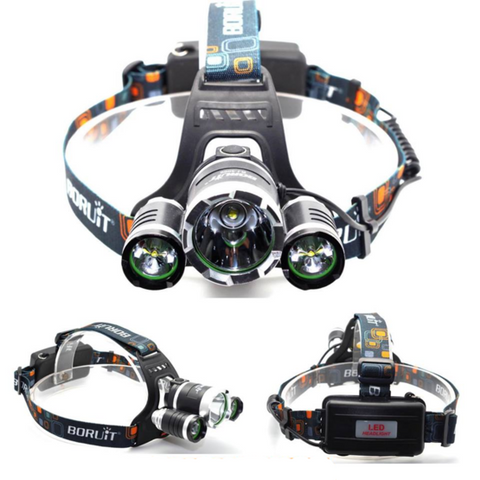 Boruit 8000 Lumen Headlamp Flashlight