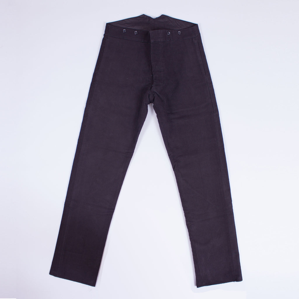 Black Moleskin Work Trousers - J. Cosmo Menswear
