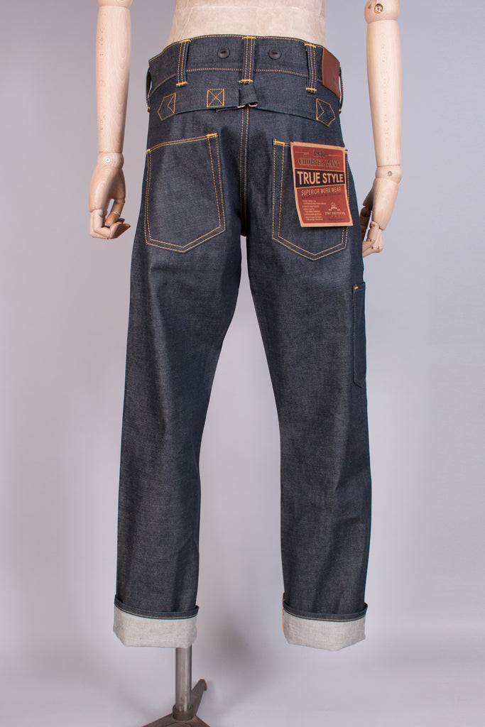 1930 - 1940s Selvedge Denim Woodworker Jeans - J. Cosmo Menswear