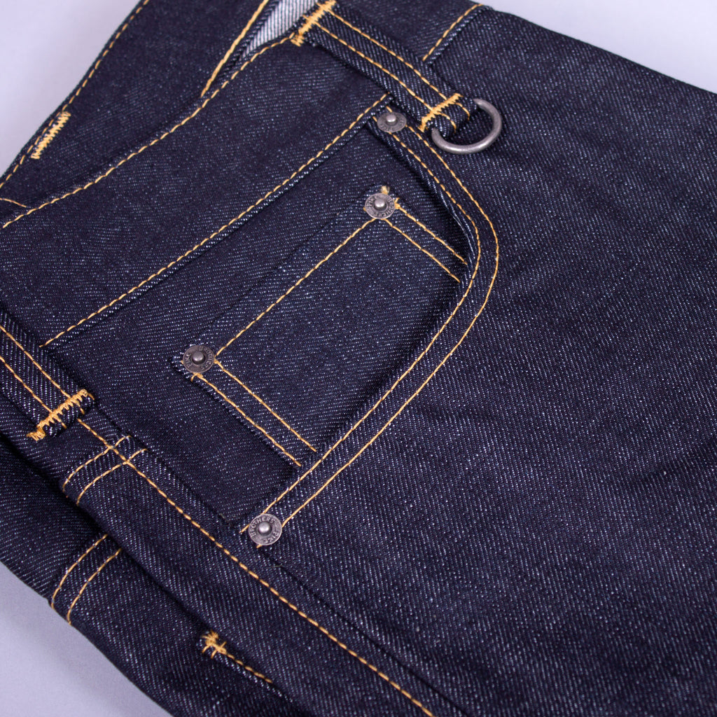 1950s selvedge denim jeans pocket detail