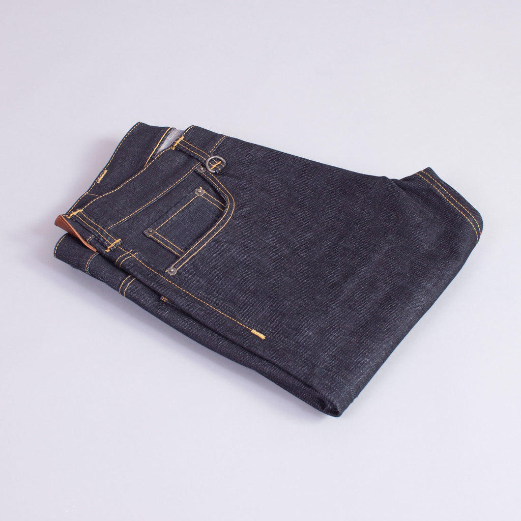 1950s selvedge denim jeans folded