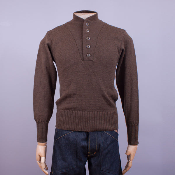 US Army 5-button Wool Jumper - J. Cosmo Menswear