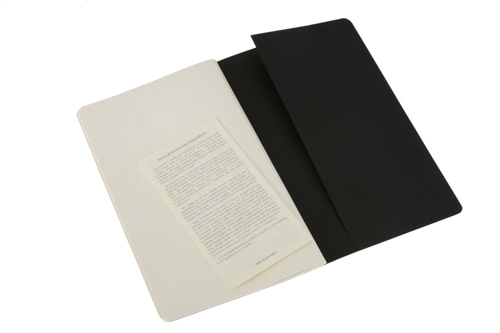 Cahier Journals Plain Large Black Set of 3 - J. Cosmo Menswear
