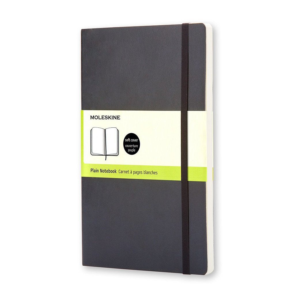 Plain Black Pocket Moleskine Notebook - J. Cosmo Menswear