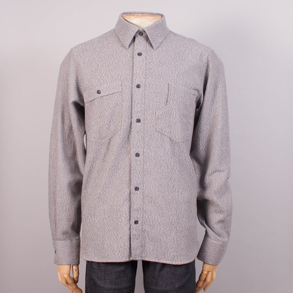 Alaska Grey Flannel Work Shirt - J. Cosmo Menswear
