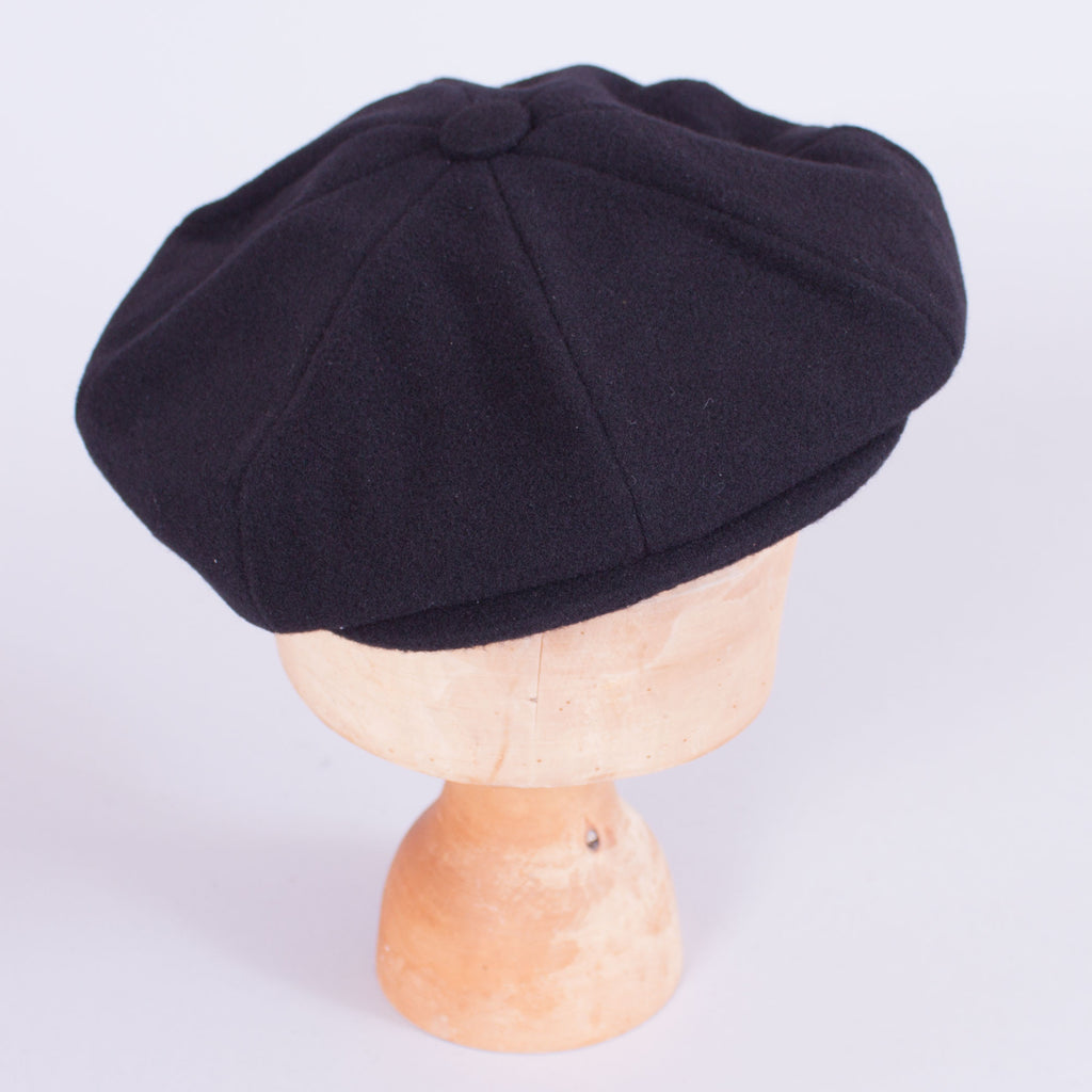 Newsboy Cap - Black Wool - J. Cosmo Menswear