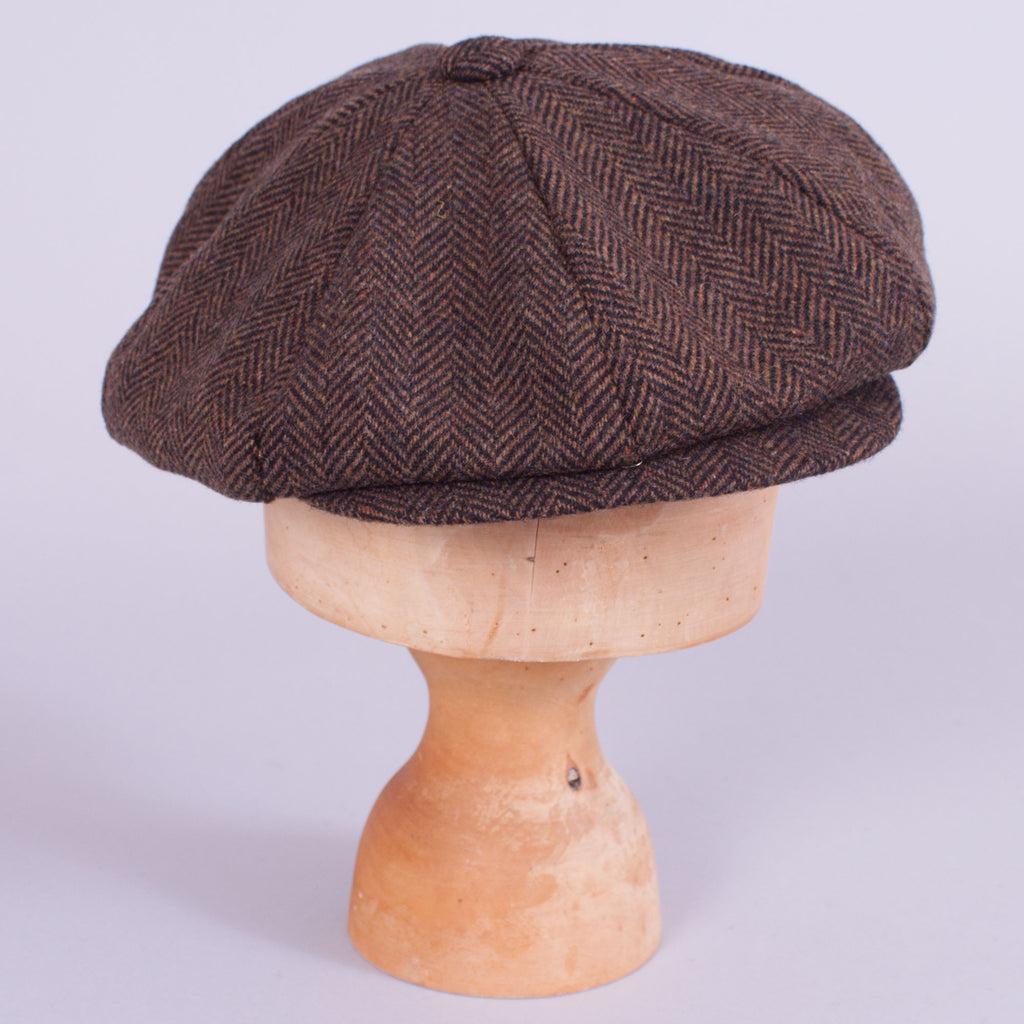 Newsboy Cap - Brown Herringbone - J. Cosmo Menswear