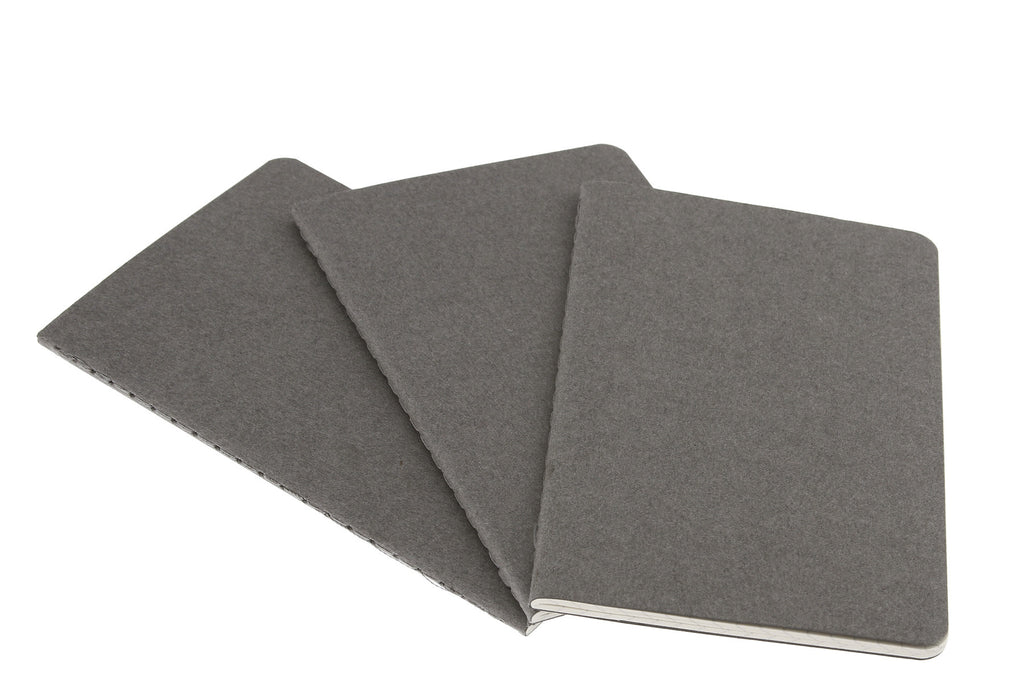 Grey Pocket Cahier Moleskine Journals Set of 3 - J. Cosmo Menswear
