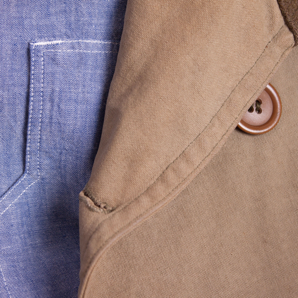 1930s - 1940s chambray work shirt with 1938 Mackinaw 'Jeep' coat
