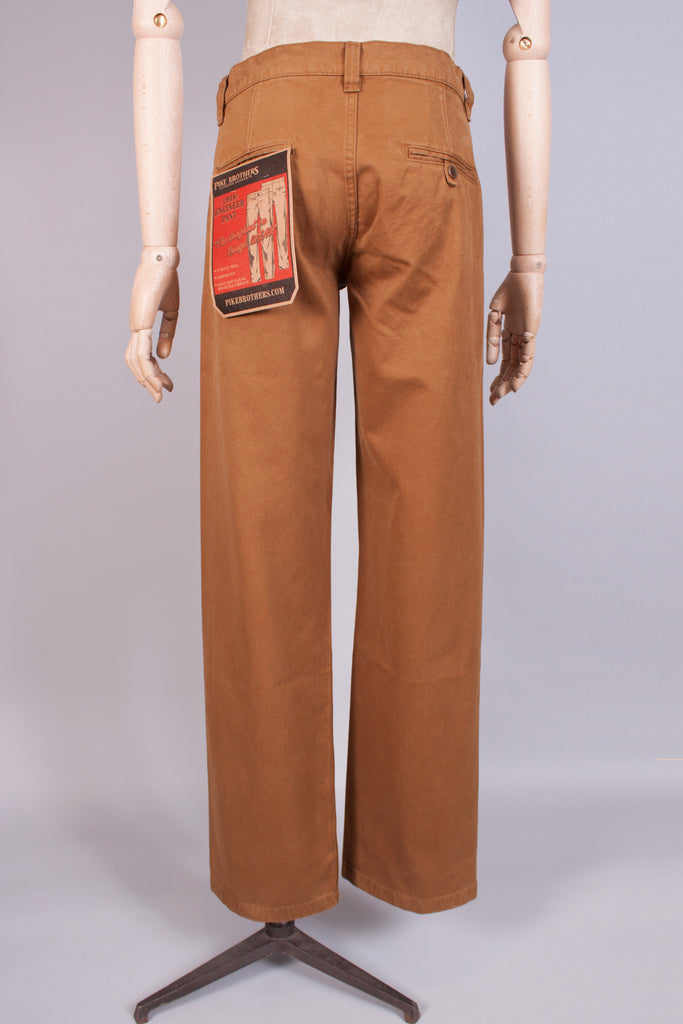 1940s Duck Brown Chinos - J. Cosmo Menswear