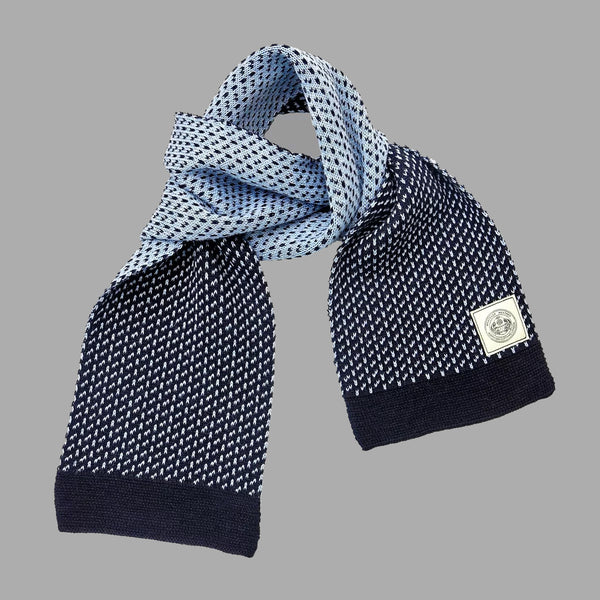 The Intrepid Scarf - Navy & Sky Blue - J. Cosmo Menswear