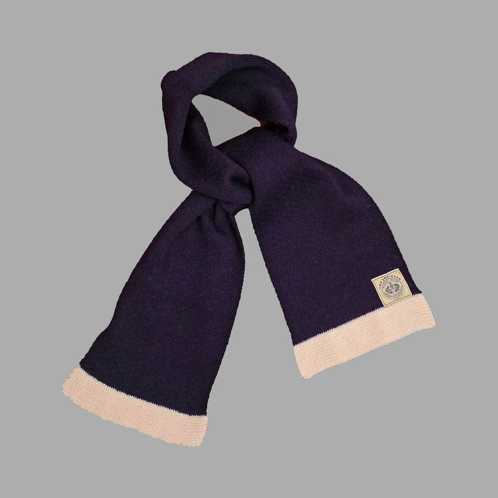 The Engineer Scarf - Navy/Ecru - J. Cosmo Menswear