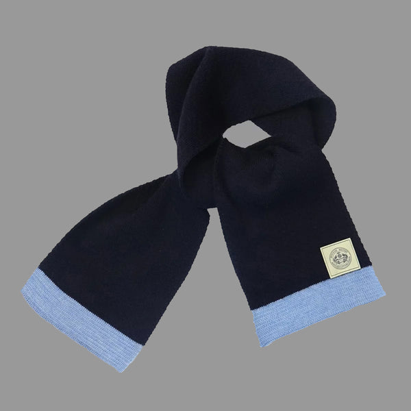 The Engineer Scarf - Navy/Sky Blue - J. Cosmo Menswear