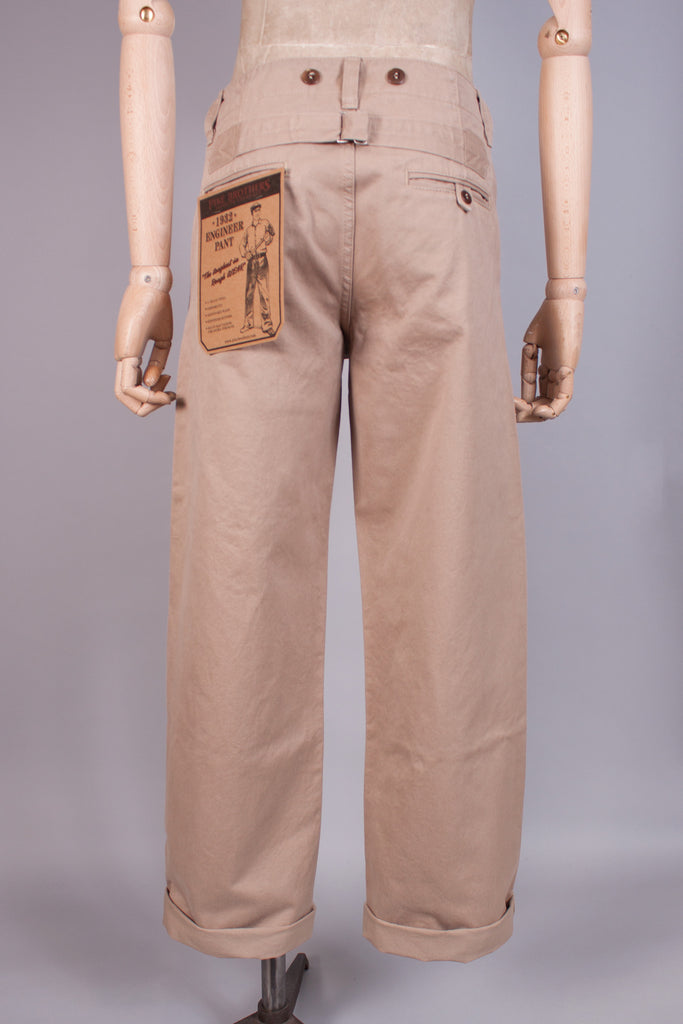 1930s Khaki Engineers Chinos - J. Cosmo Menswear