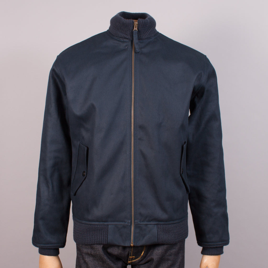 "Navy ""Elephant Skin"" Deck Jacket"