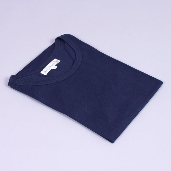 1950s T-Shirt in navy organic cotton folded