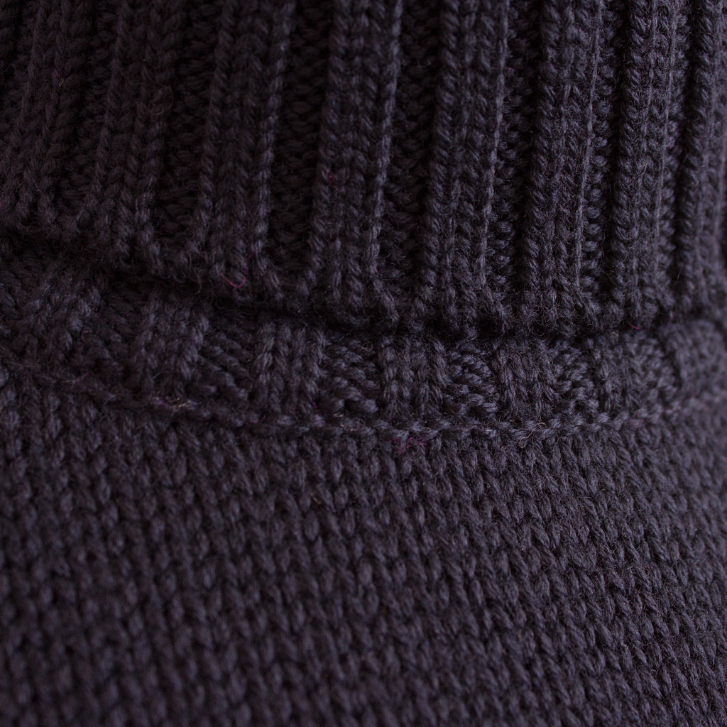 Turtleneck Jumper - Navy Wool - J. Cosmo Menswear