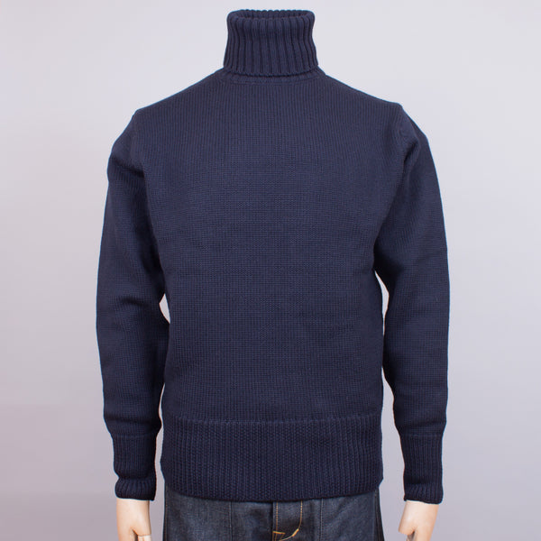 Turtleneck Jumper - Navy Wool