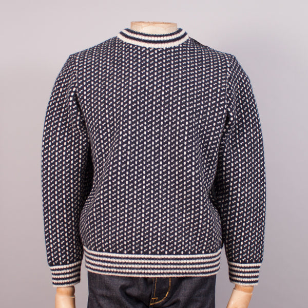 Norlender 'Island' Norwegian Fisherman's Jumper - Navy