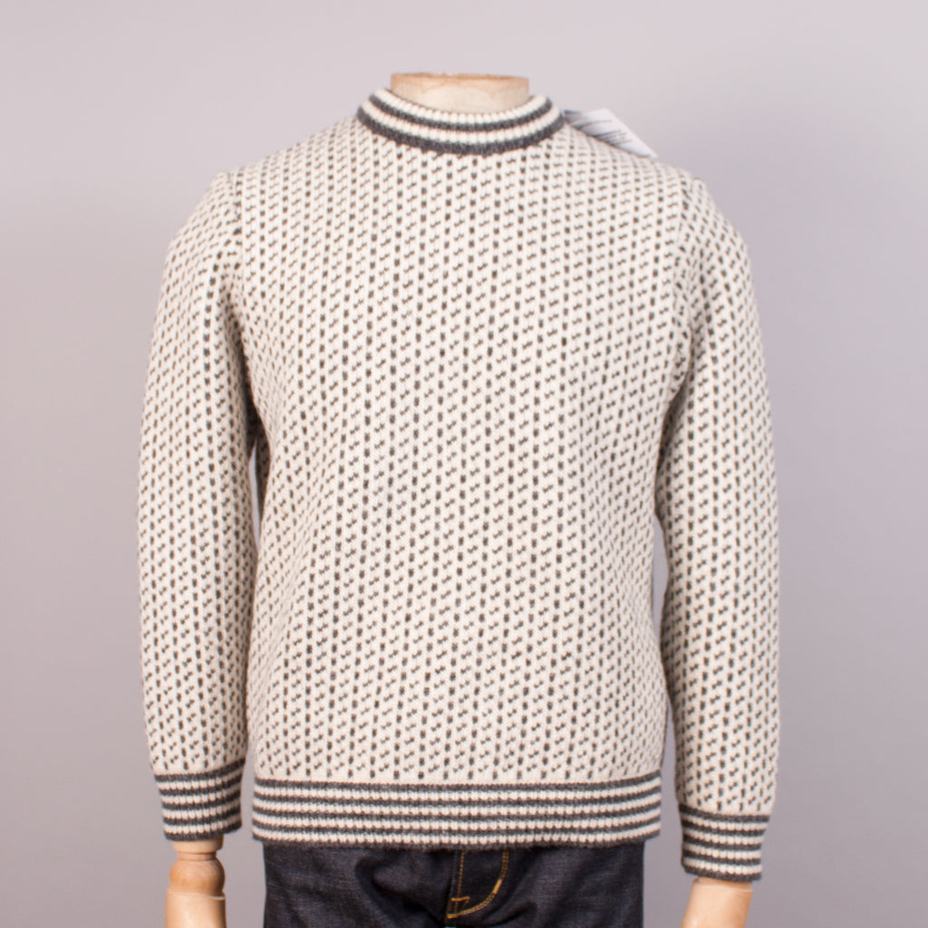 Norlender 'Island' Norwegian Fisherman's Jumper - Off-white - J. Cosmo Menswear