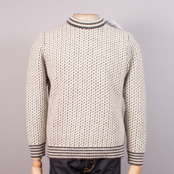 Norlender 'Island' Norwegian Fisherman's Jumper - Off-white