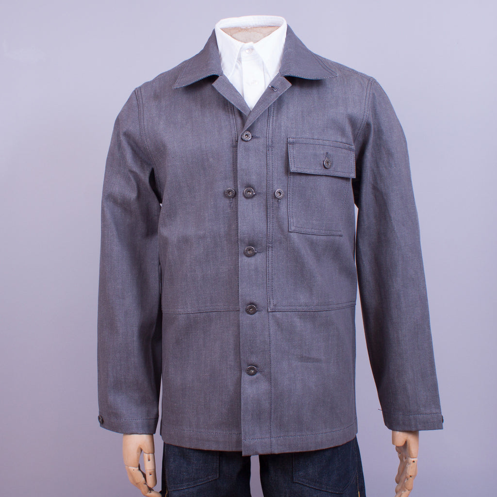 Grey Selvedge Denim P-44 Jacket - J. Cosmo Menswear