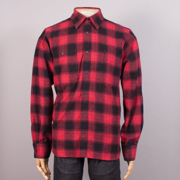 Red/Black Flannel Work Shirt - J. Cosmo Menswear