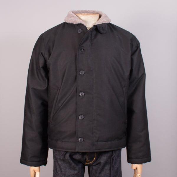 USN N-1 Deck Jacket - Waxed Navy Blue - J. Cosmo Menswear