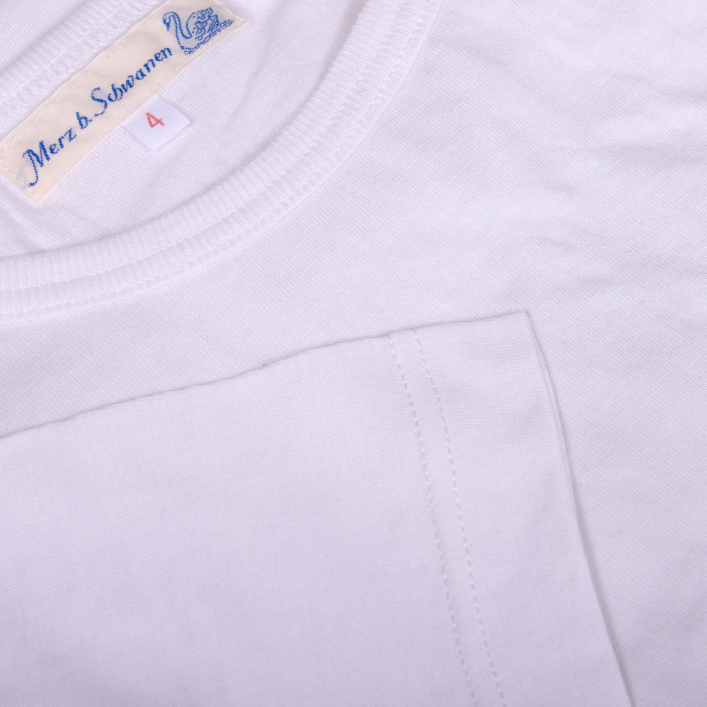 Fifties T-Shirt - White Organic Cotton - J. Cosmo Menswear
