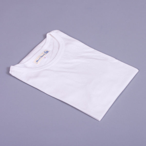1950s T-Shirt in white organic cotton folded