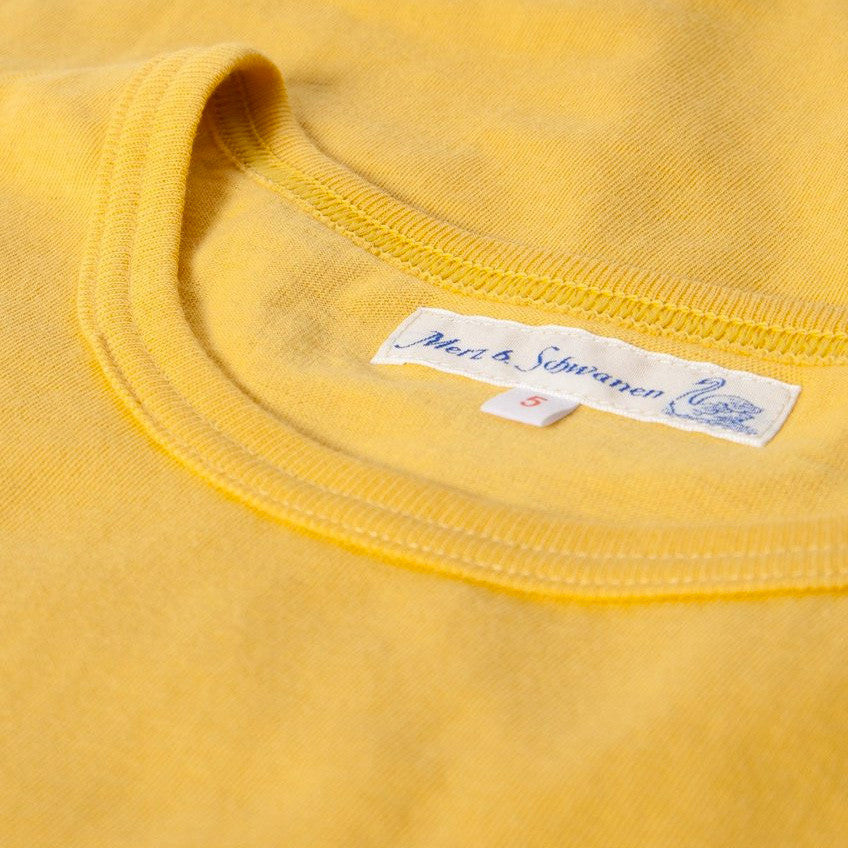Fifties T-Shirt - Sun Yellow Organic Cotton - J. Cosmo Menswear