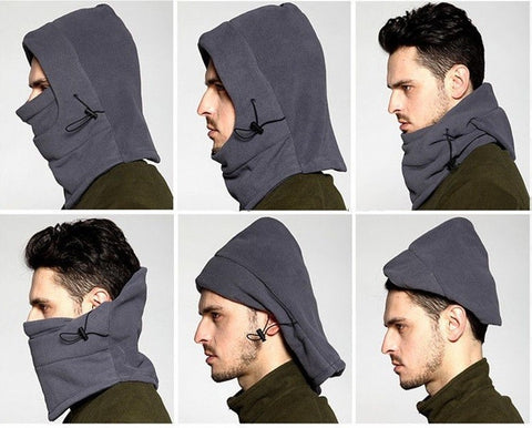 6 IN 1 WARM FLEECE BEANIE SKULL BANDANA NECK WARMER SNOWBOARD SKI HAT