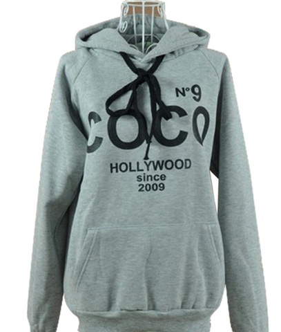 Printed COCO Sweatshirt Hoodie Autumn Winter Outerwear