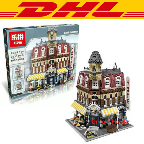 2133 Pcs Creators Cafe Corner Model Building Kit Minifigure Blocks Bricks - Rakupos