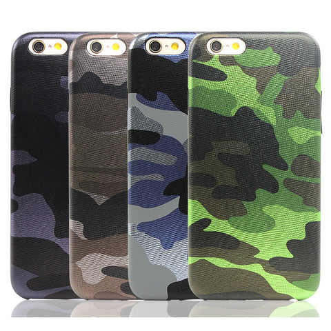Army Camo Camouflage Leather Back Cover Case For iphone 6 6s