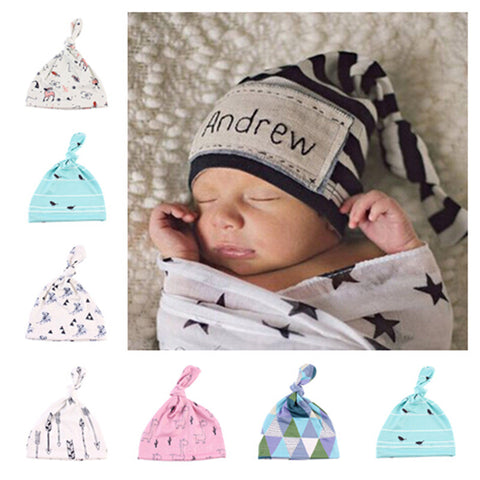 Cute Cartoon Baby Beanie Caps 0-6 Months Cotton - Rakupos