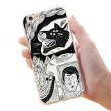 KISSCASS For iPhone 7 6 6s Plus 5 5s Cool Animal Phone Case Fish Wolf Owl Beer Rabbit Soft TPU Sillicon Case Back Cover - Rakupos