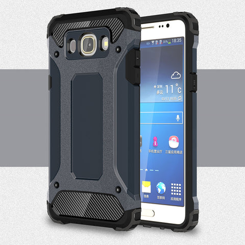 Armor Anti-Shock Silicone Rubber Hard PC Phone Case For Samsung Galaxy J7 2016 J710 J710F For Samsung J7 2016 Cover - Rakupos